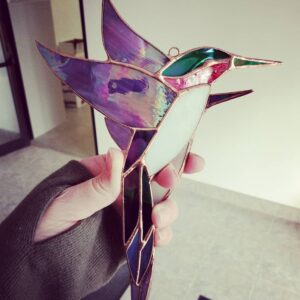 Stained Glass Hummingbird