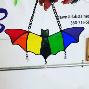 Bat Rainbow Suncatcher Stained Glass