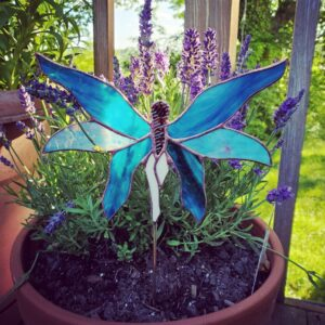 Fairy Garden Plant Stake Stained Glass