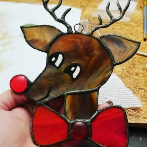 Rudolph The Red-nosed Reindeer Stained Glass