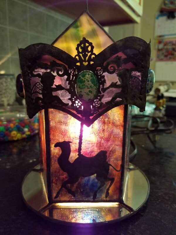 3D Carousel Light Stained Glass