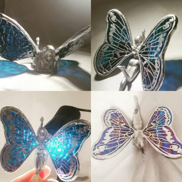 Cast Fairy Stained Glass Wings your choice of color