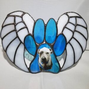 Memorial Personalized For Pet Stained Glass