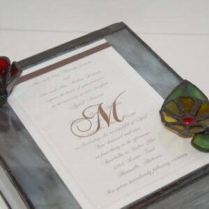 Wedding Box Invitation Inlay Customized one of a Kind Stained Glass